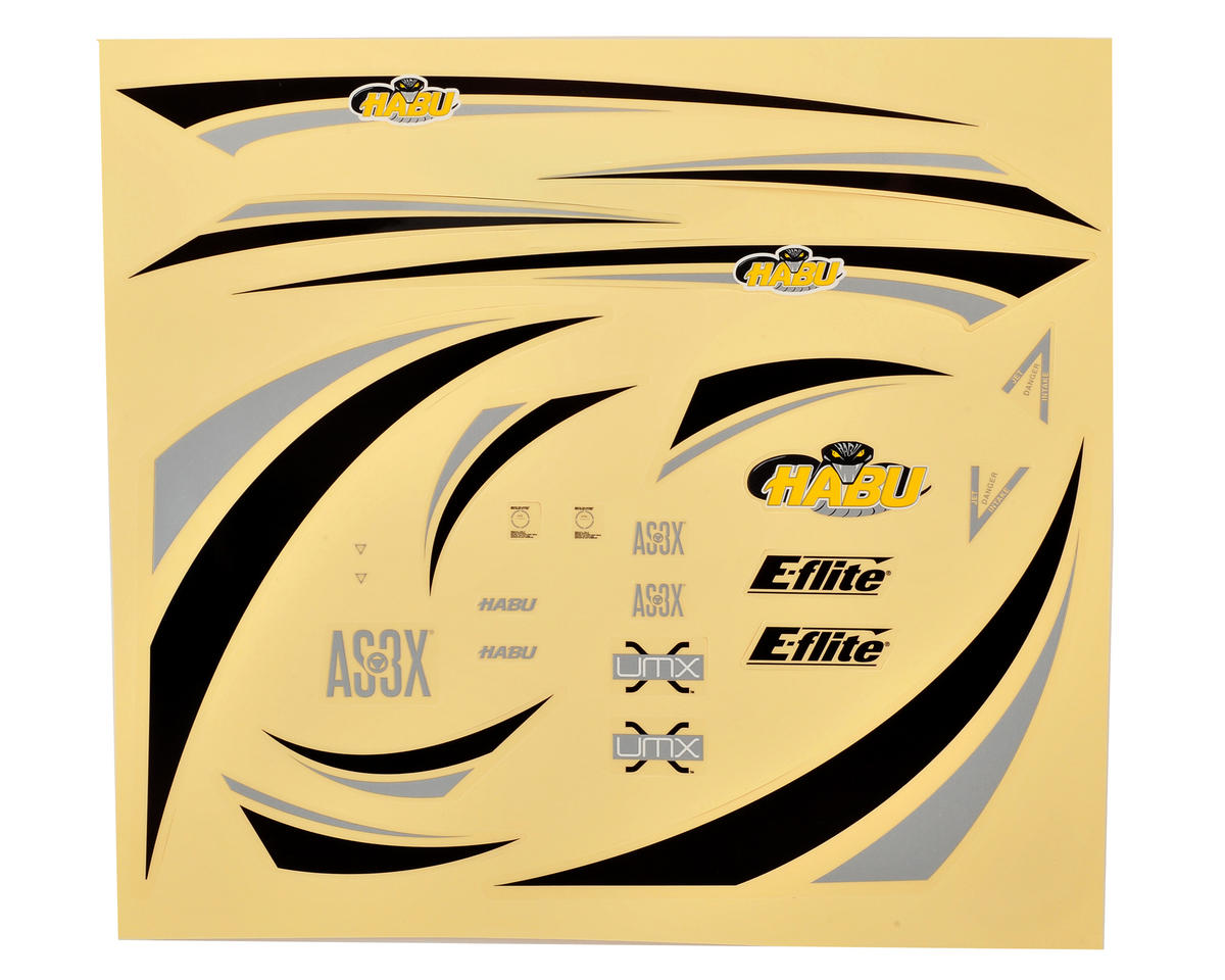 E-flite UMX Habu Decal Sheet