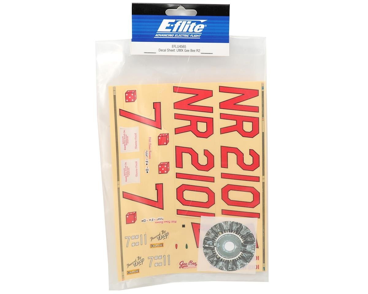 E-flite Decal Sheet (UMX Gee Bee R2)