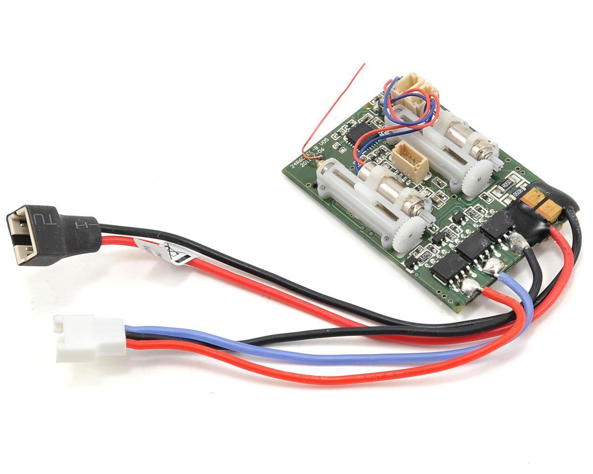 E-flite UMX Carbon Cub SS DSM2 6 Ch Ultra Micro AS3X Receiver & BL-ESC Combo