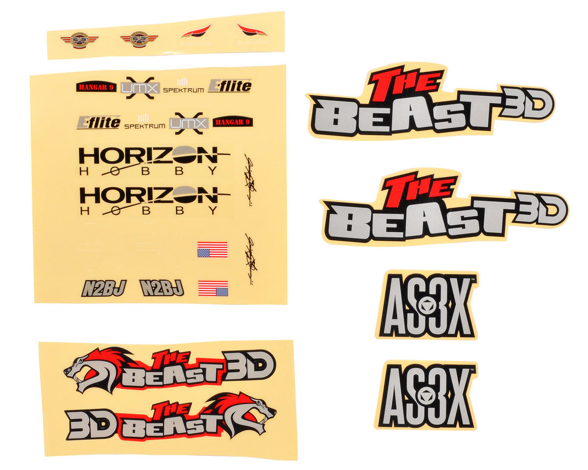 E-flite UMX Beast 3D Beats Decal Set