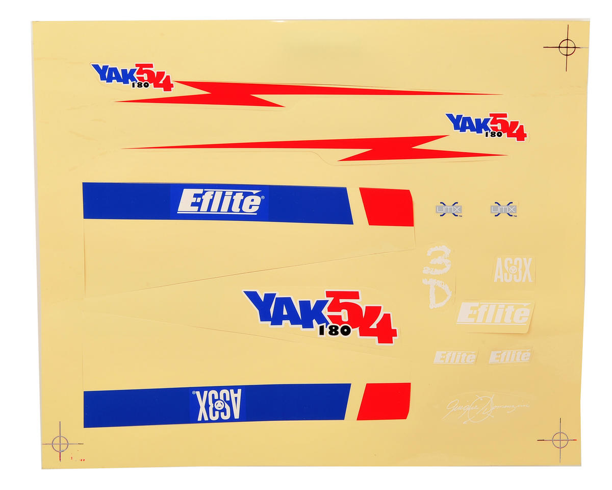E-flite UMX Yak 54 180 Decal Sheet