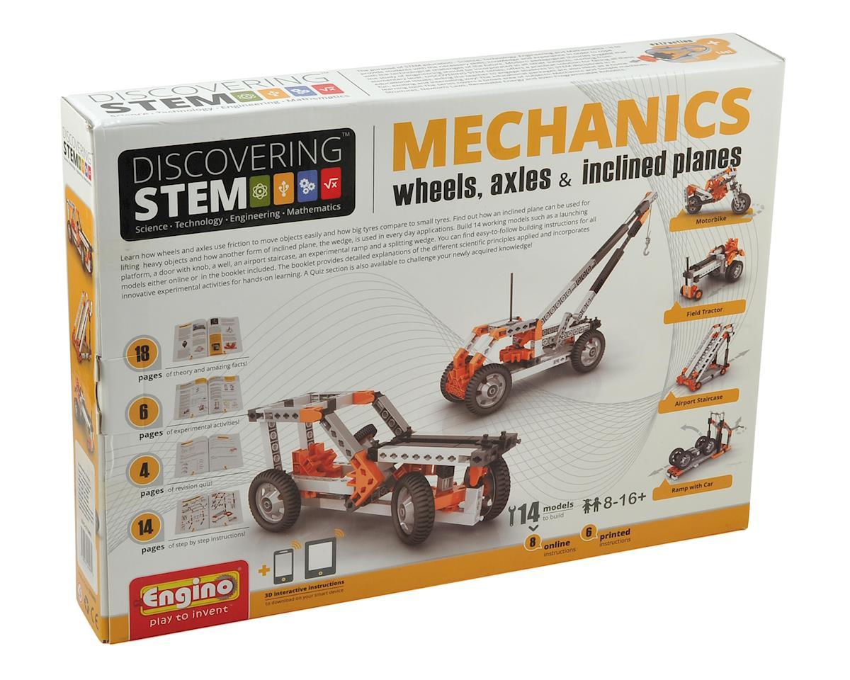 Elenco Electronics Engino STEM Wheels, Axles & Inclined Planes