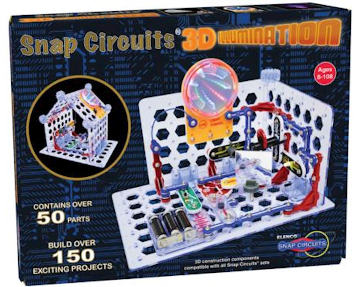 Elenco Electronics Snap Circuits 3d Illumination Elesc3di Toys Circuitsr By Elencor Replacement Parts