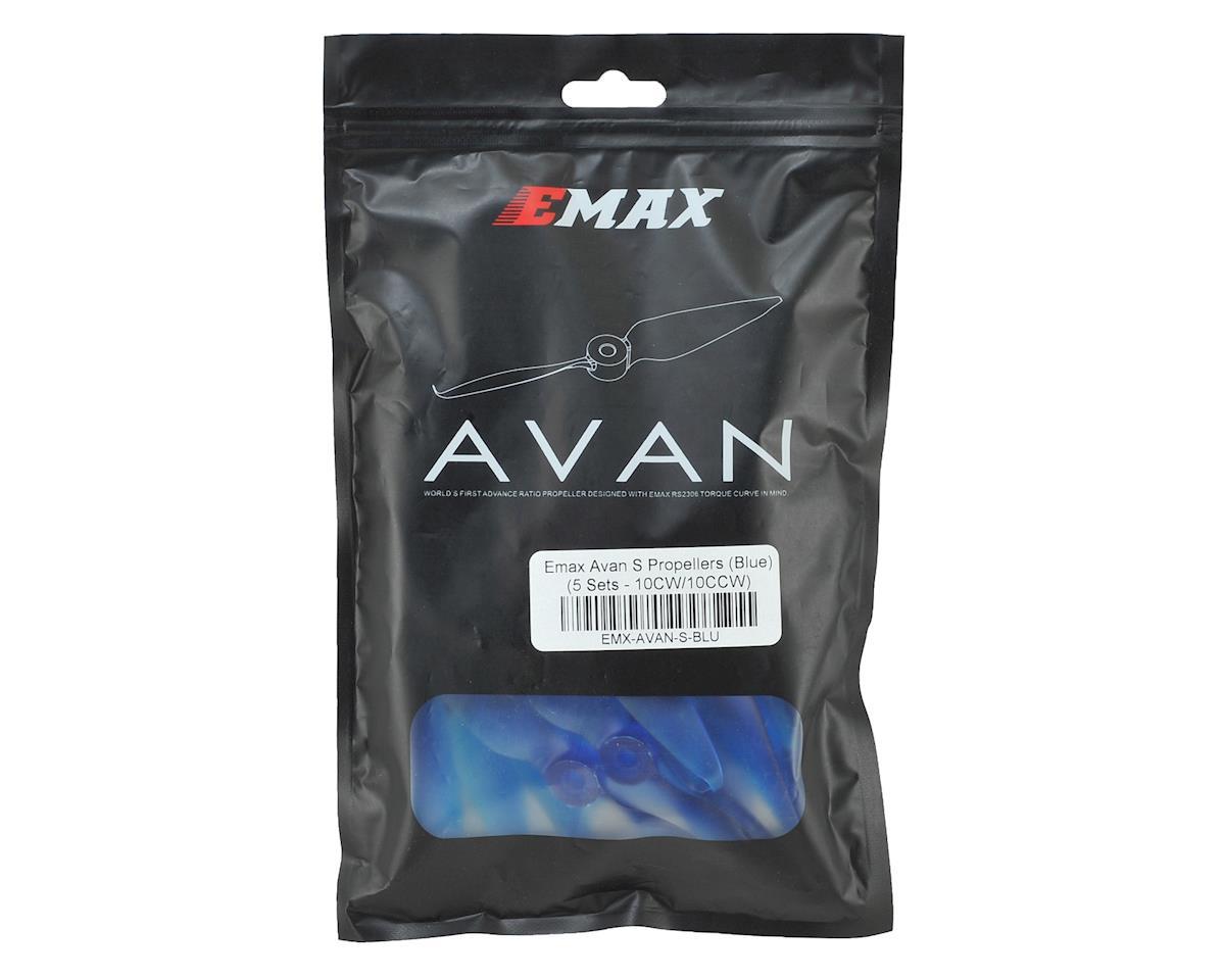 """EMAX Avan S 5"""" 2-Blade Propellers (Blue) (10CW/10CCW)"""