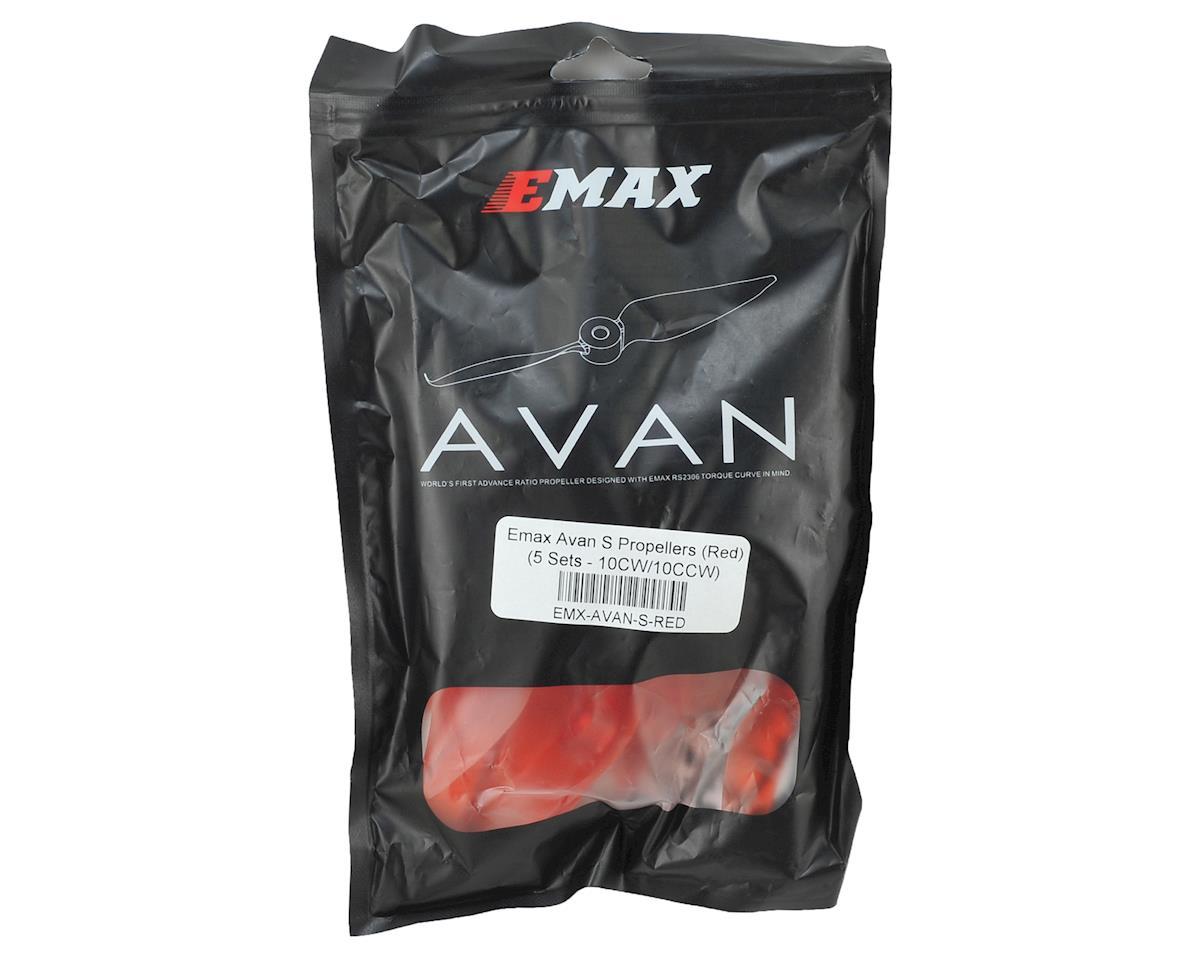"EMAX Avan S 5"" 2-Blade Propellers (Red) (10CW/10CCW)"