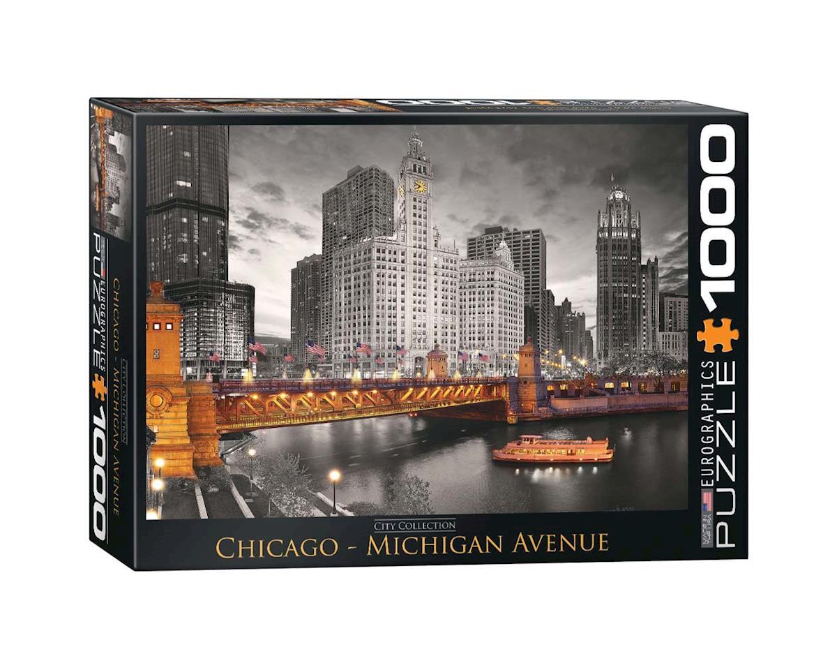 6000-0658 Chicago Michigan Avenue 1000pcs by Eurographics