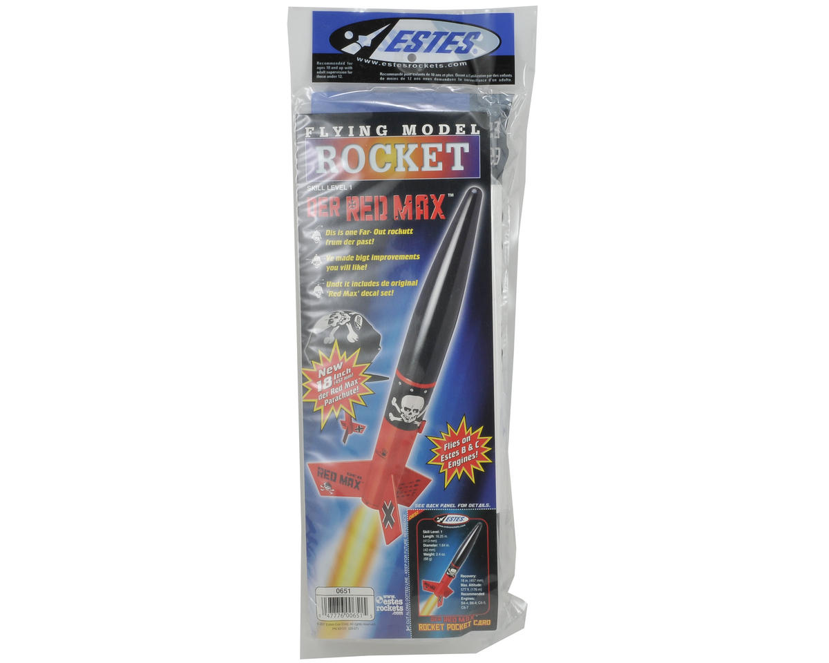 Estes Der Red Max Rocket Kit (Skill Level 1)