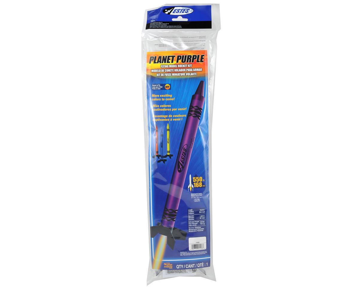 Estes Planet Purple Crayon RTF Model Rocket Kit