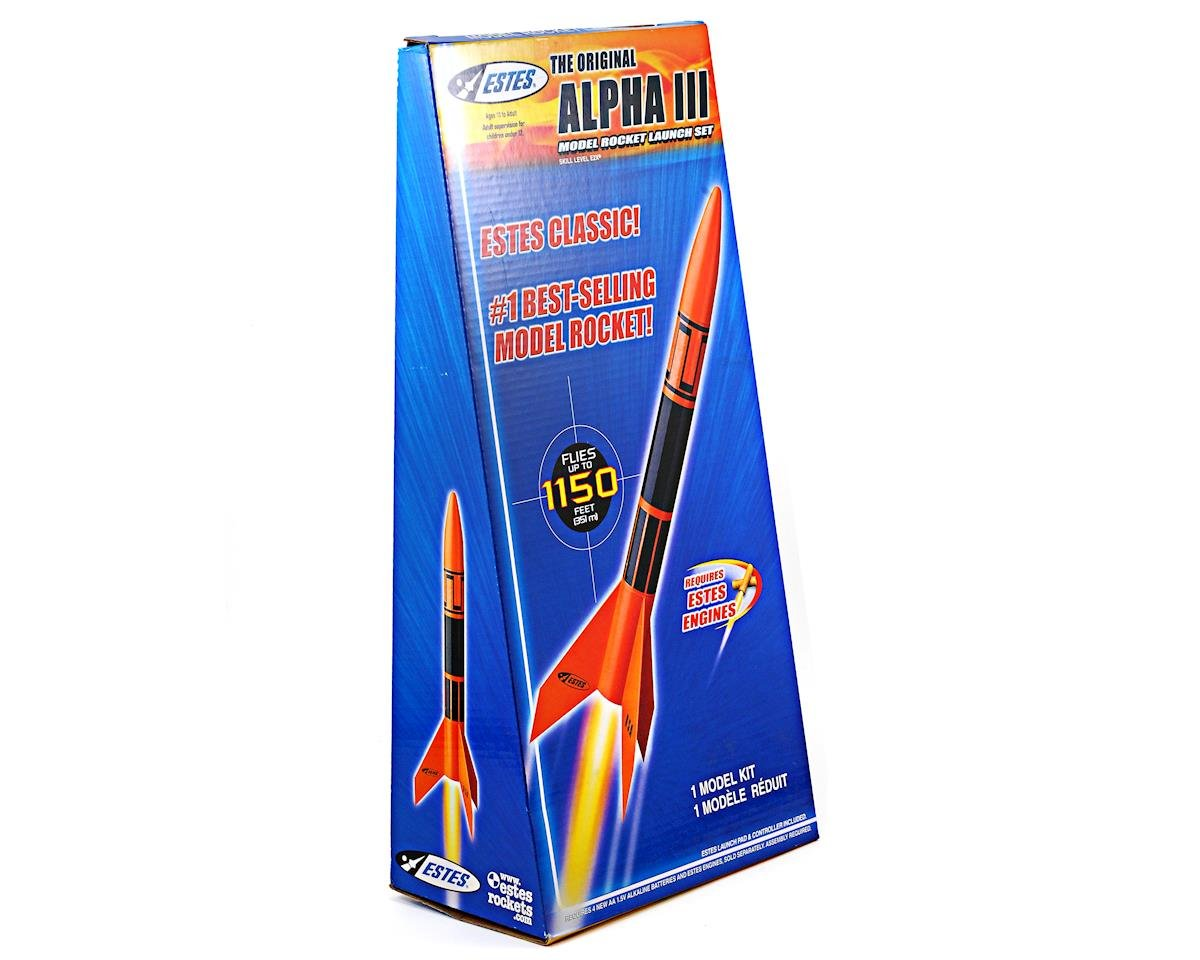 Alpha III Rocket Kit w/Launch Set (Skill Level E2X) by Estes