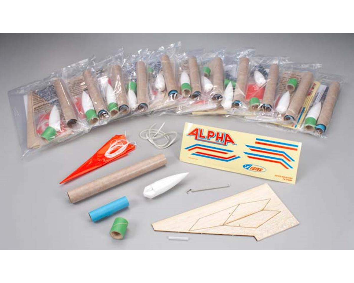 1756 Alpha Bulk Pack Kits Skill Level 1 (12) by Estes