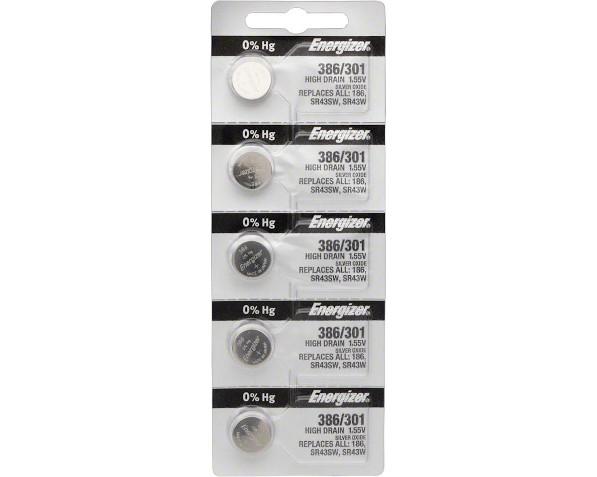 Energizer 386 / 301 Silver Oxide High-Drain Battery (LR43) (1.55v) (5)