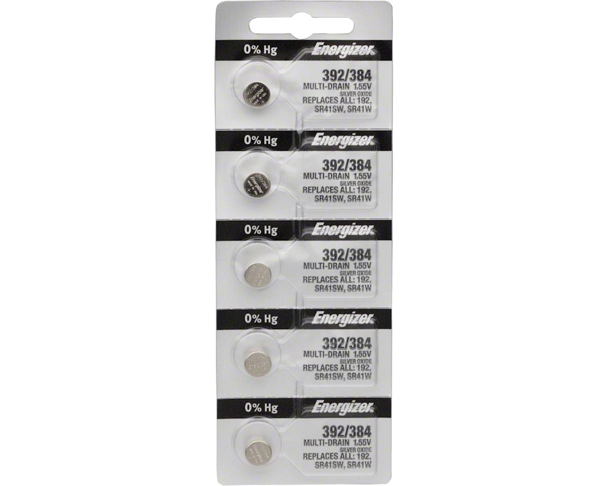 392 / 384 Silver Oxide Multi-Drain Battery 1.55v: Card of 5