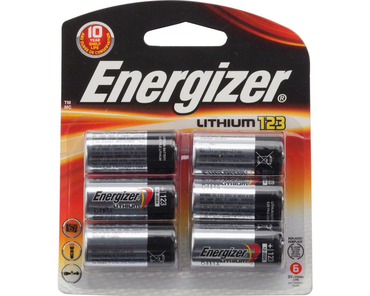 Energizer CR123 Lithium Cell, Blister pack of 6