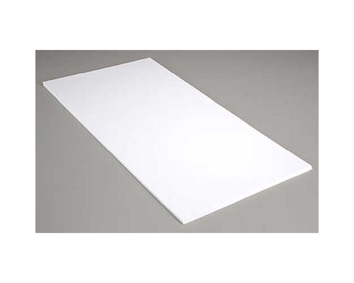 White Sheet .060 12 X 24 (4) by Evergreen Scale Models
