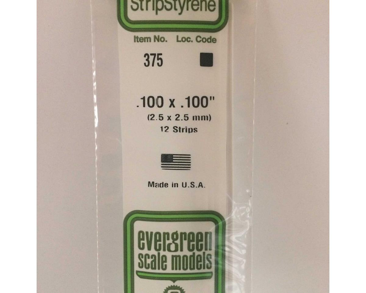 "Evergreen Scale Models 24"" Strip Pack, .100x.100 (12)"