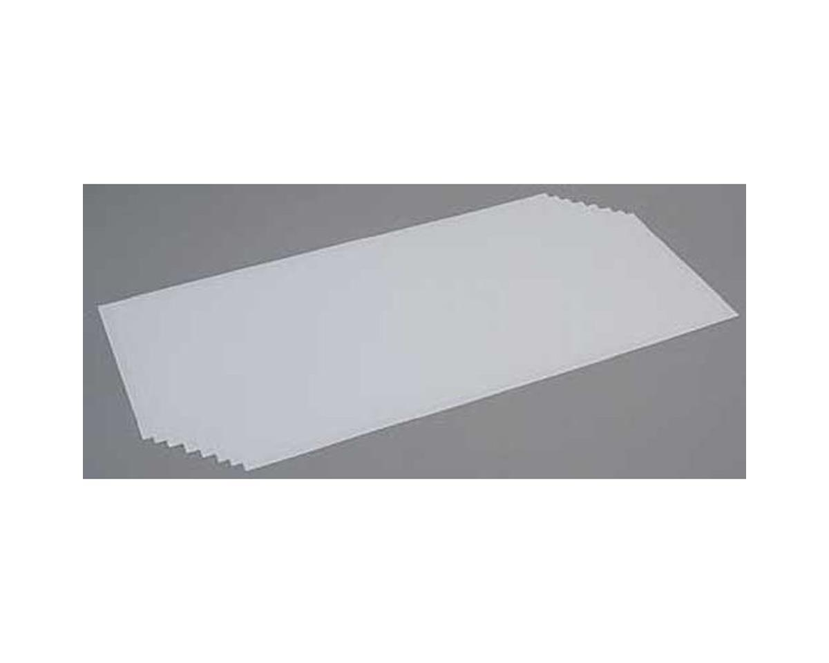 Evergreen Scale Models White Sheet .010 x 8 x 21 (8)