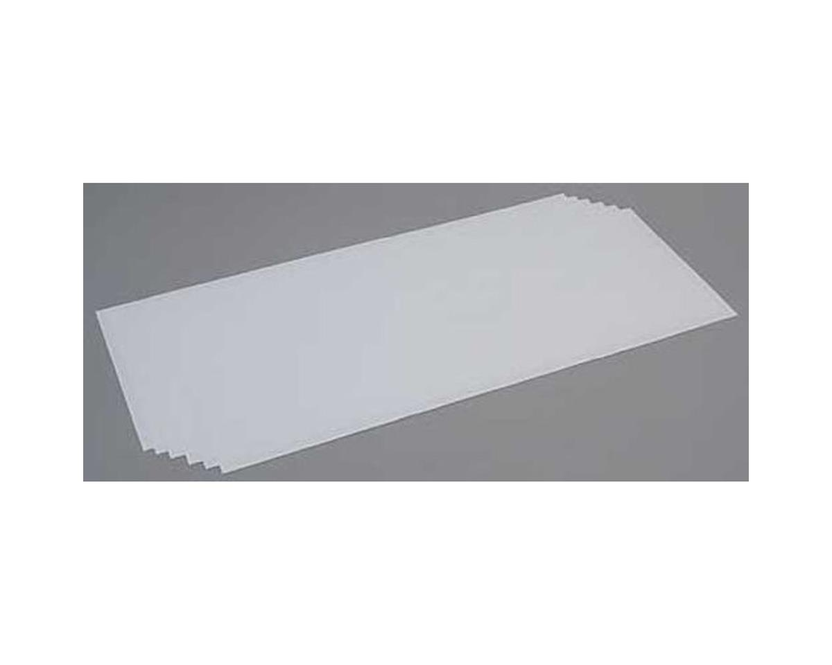 White Sheet .020 x 8 x 21 (6) by Evergreen Scale Models