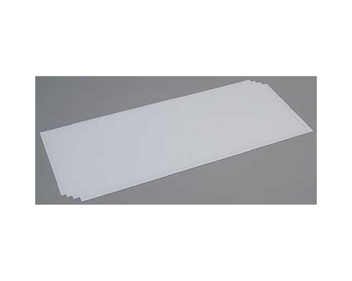 Evergreen Scale Models White Sheet .030 x 8 x 21 (4)