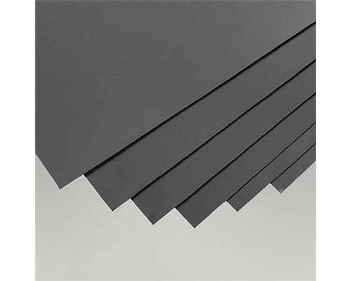 "Evergreen Scale Models Black Styrene Sheets, .02x8x21"" (6)"