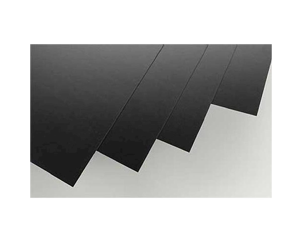 "Evergreen Scale Models Black Styrene Sheets, .03x8x21"" (4)"