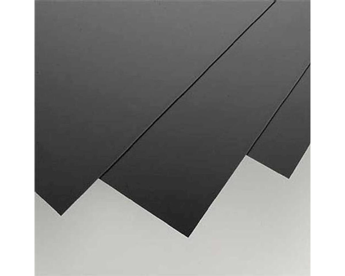 "Evergreen Scale Models Black Styrene Sheets, .04x8x21"" (3)"