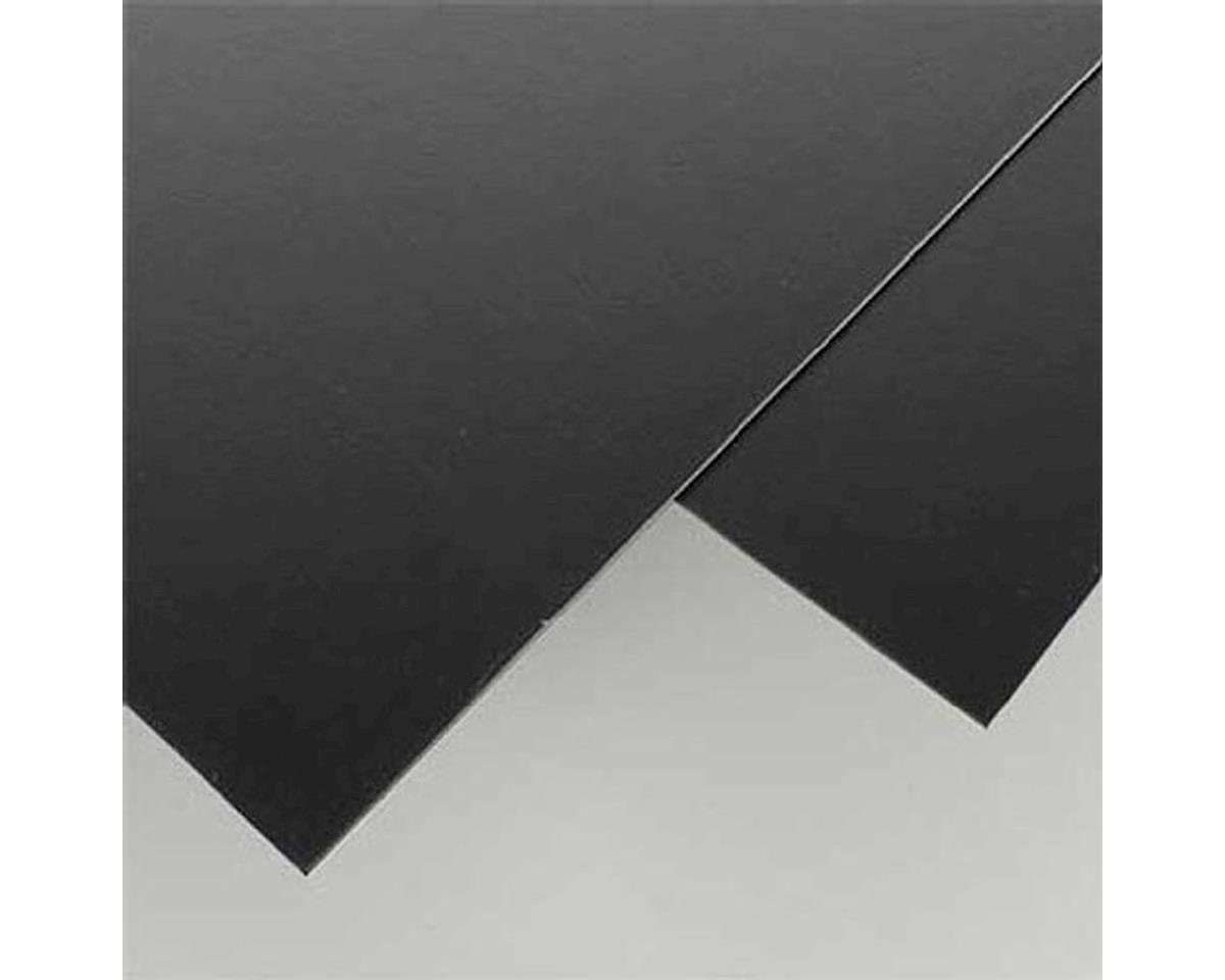 "Black Styrene Sheets, .06x8x21"" (2) by Evergreen Scale Models"