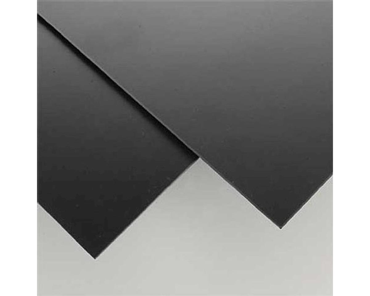 "Evergreen Scale Models Black Styrene Sheets, .08""x8x21 (2)"