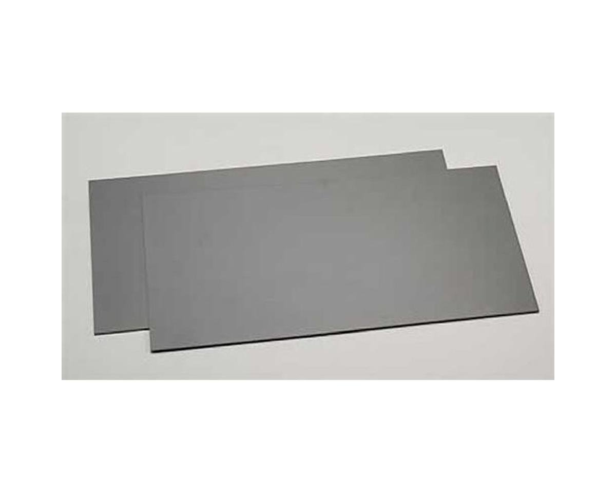 "Evergreen Scale Models Black Styrene Sheets, .04x6x12"" (2)"