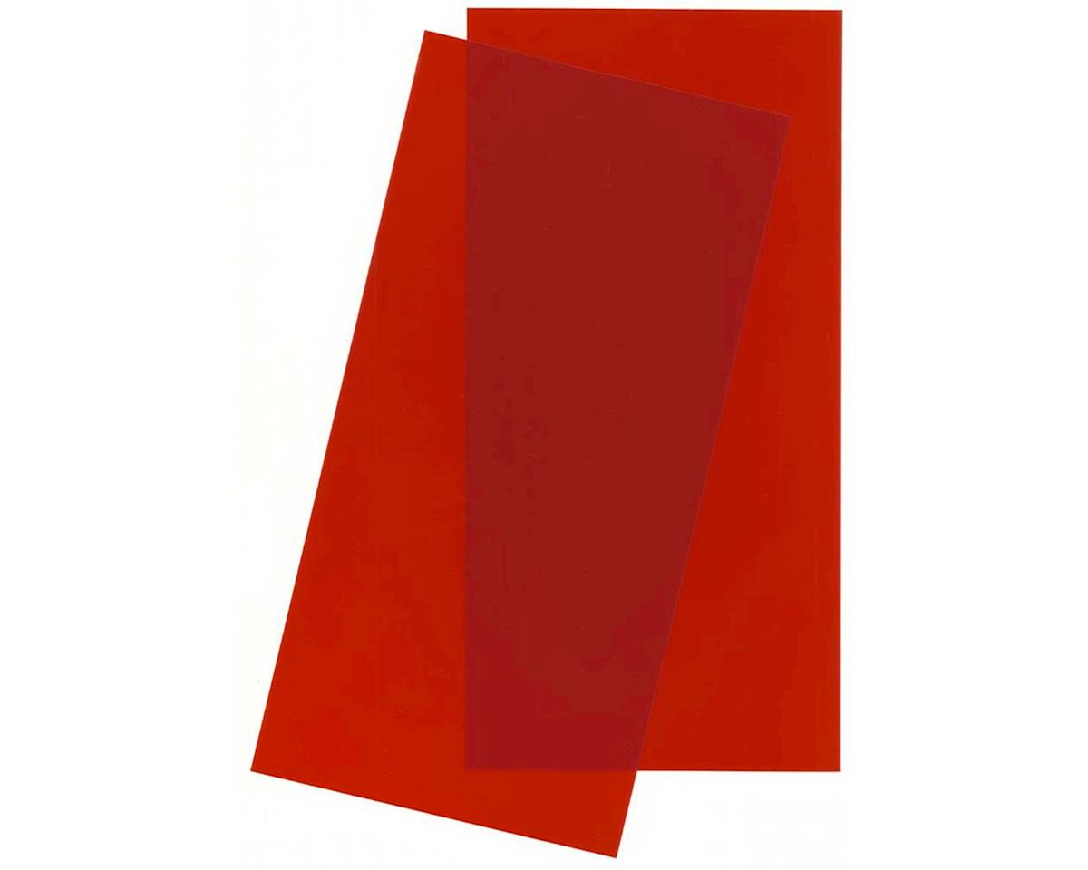 Evergreen Scale Models Red Transparent Sheet, 6X12X.010, 2 pc