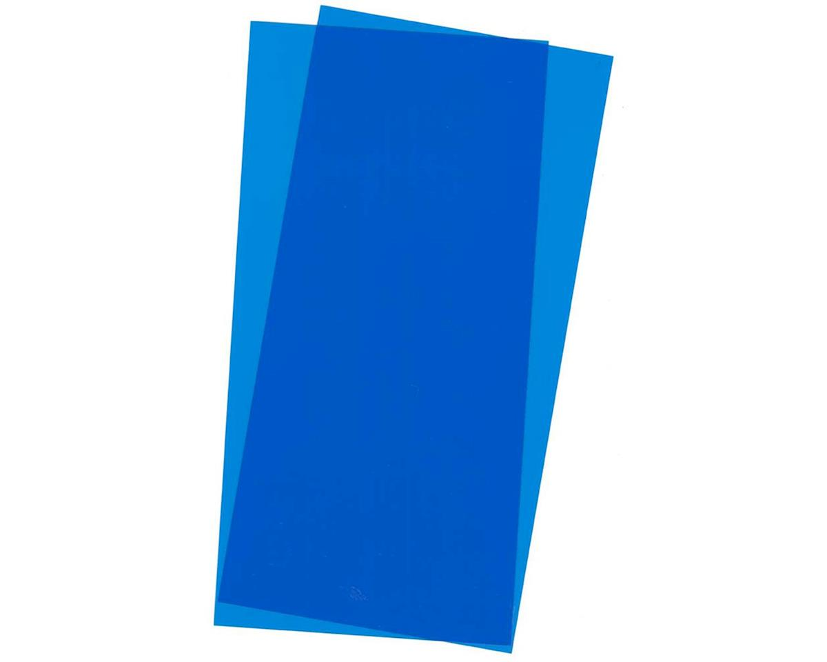 Evergreen Scale Models Blue Transparent Sheet, 6X12X.010, 2 pc