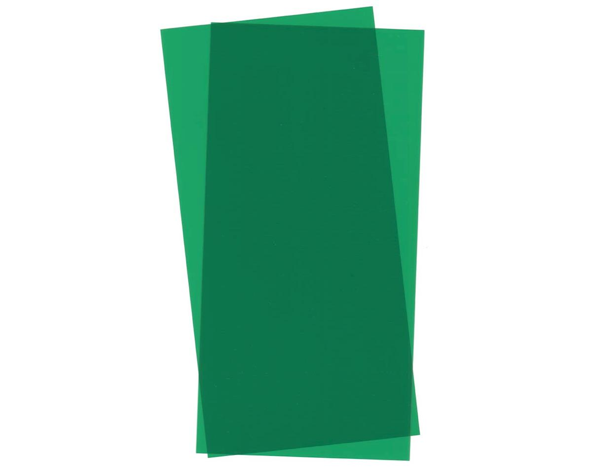 Green Transparent Sheet, 6X12X.010, 2 pc by Evergreen Scale Models