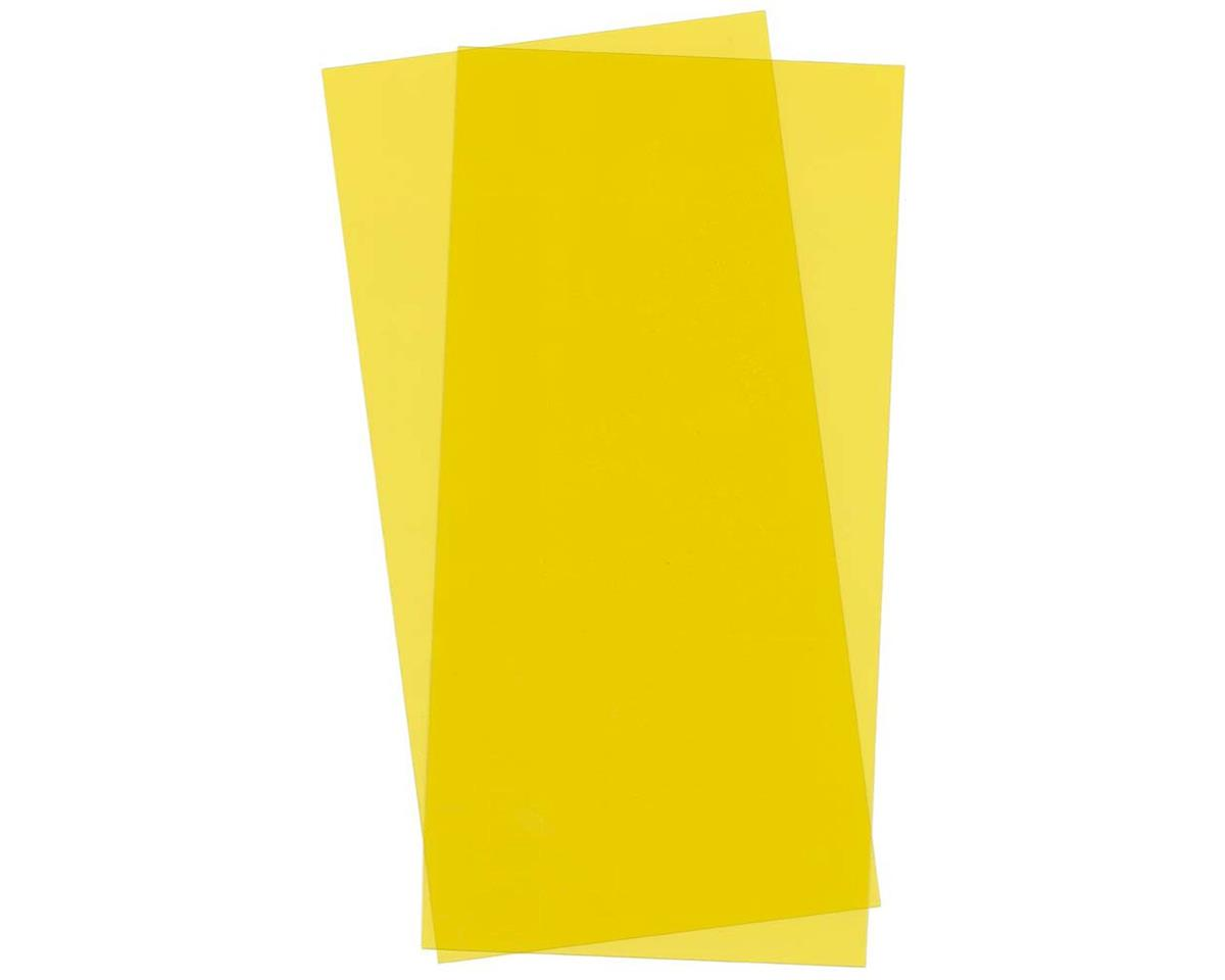 Evergreen Scale Models Yellow Transparent Sheet, 6X12X.010, 2 pc