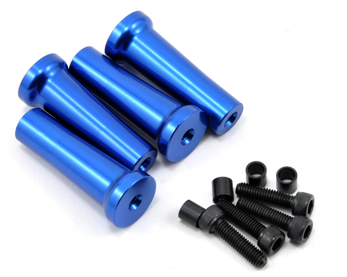 45mm Gas Engine Mount Standoff Set (Blue) (4)
