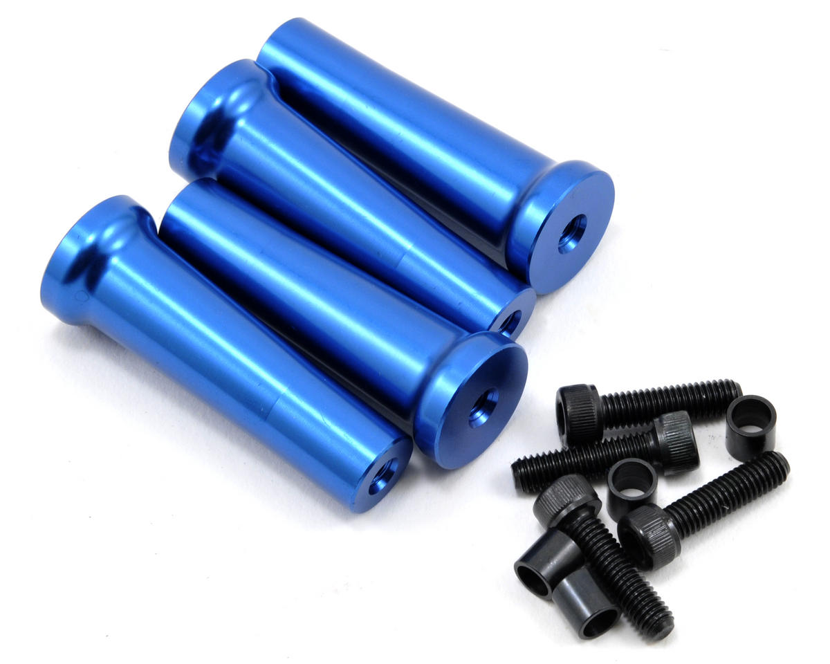 50mm Gas Engine Mount Standoff Set (Blue) (4)