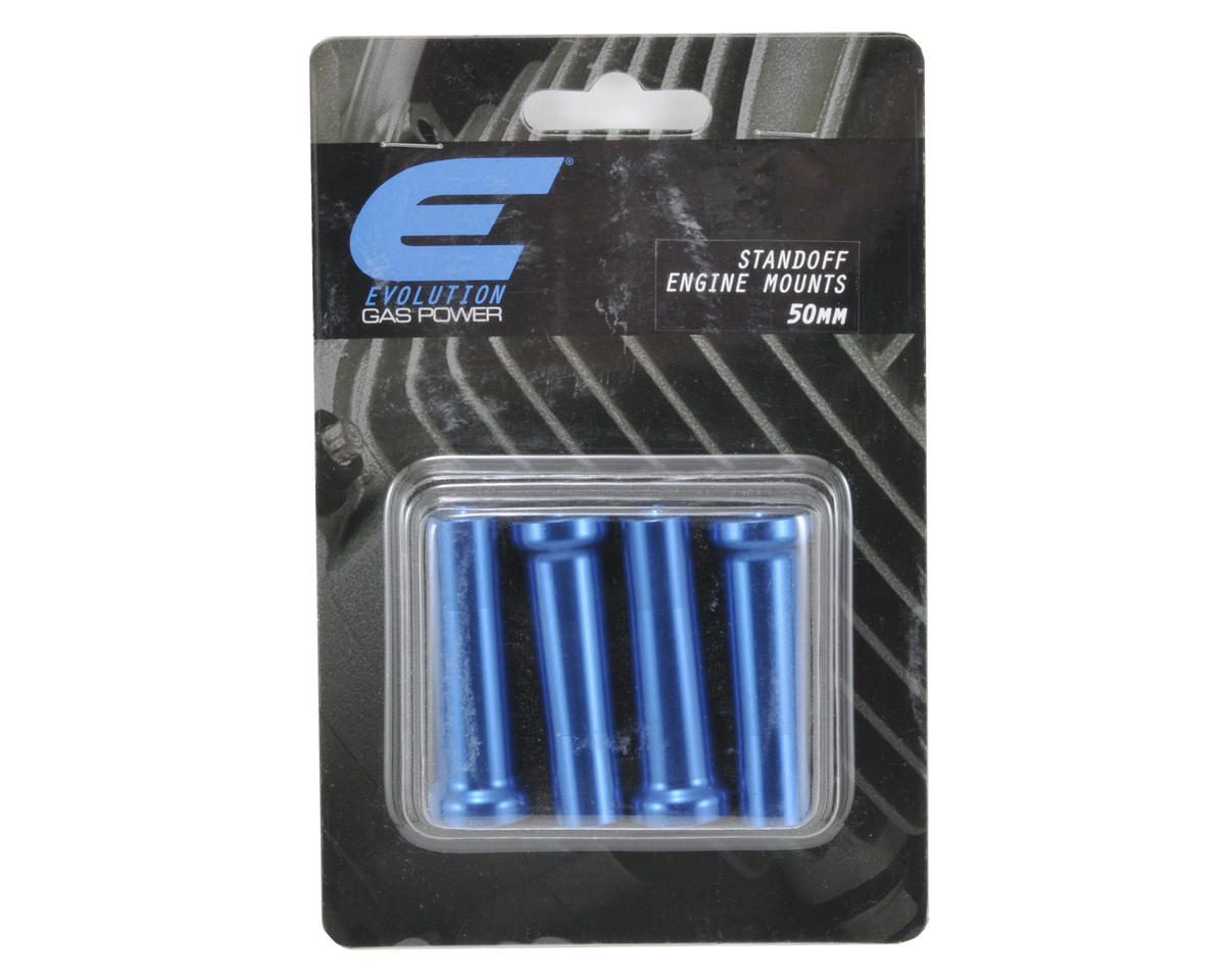 Evolution 50mm Gas Engine Mount Standoff Set (Blue) (4)