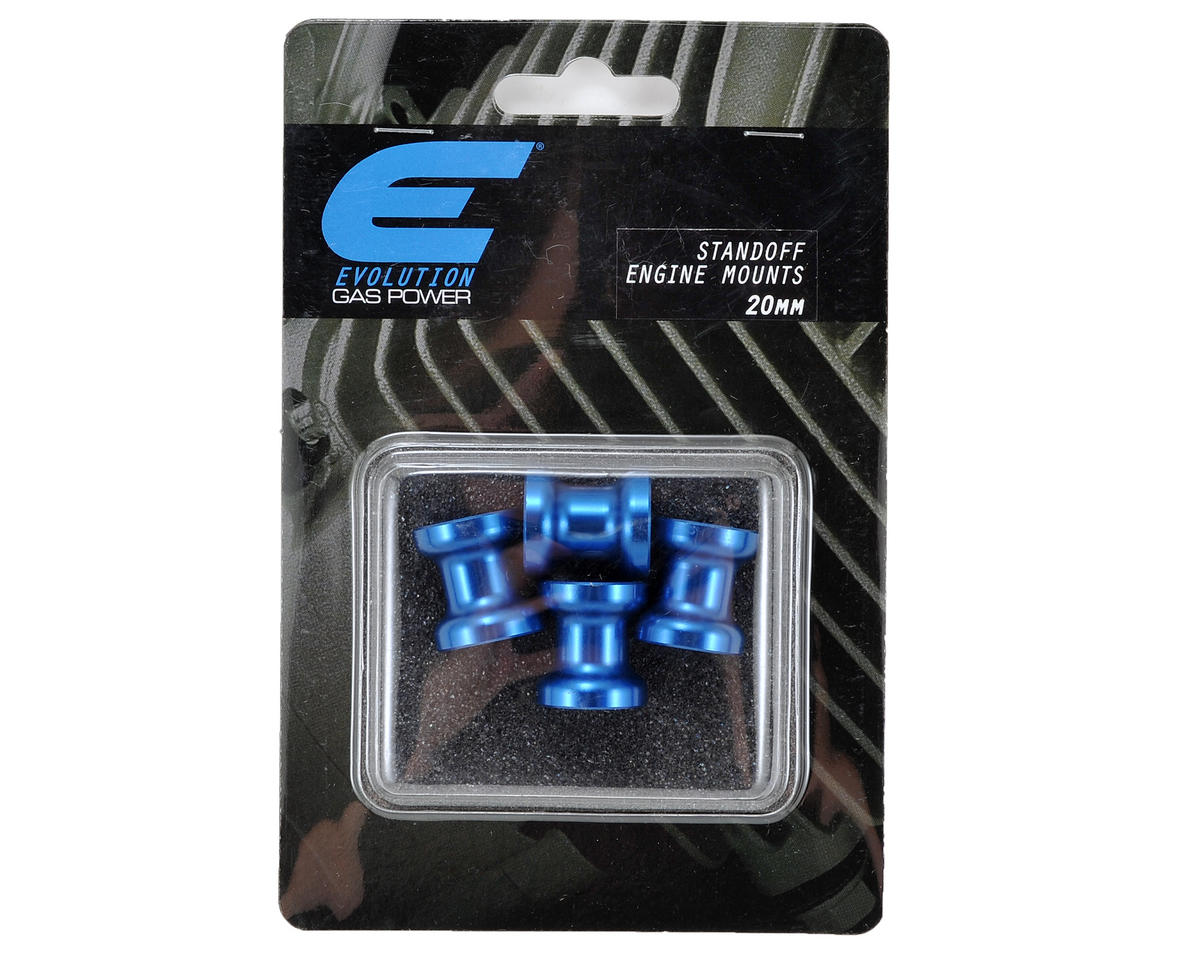Evolution 20mm Gas Engine Mount Standoff Set (Blue) (4)