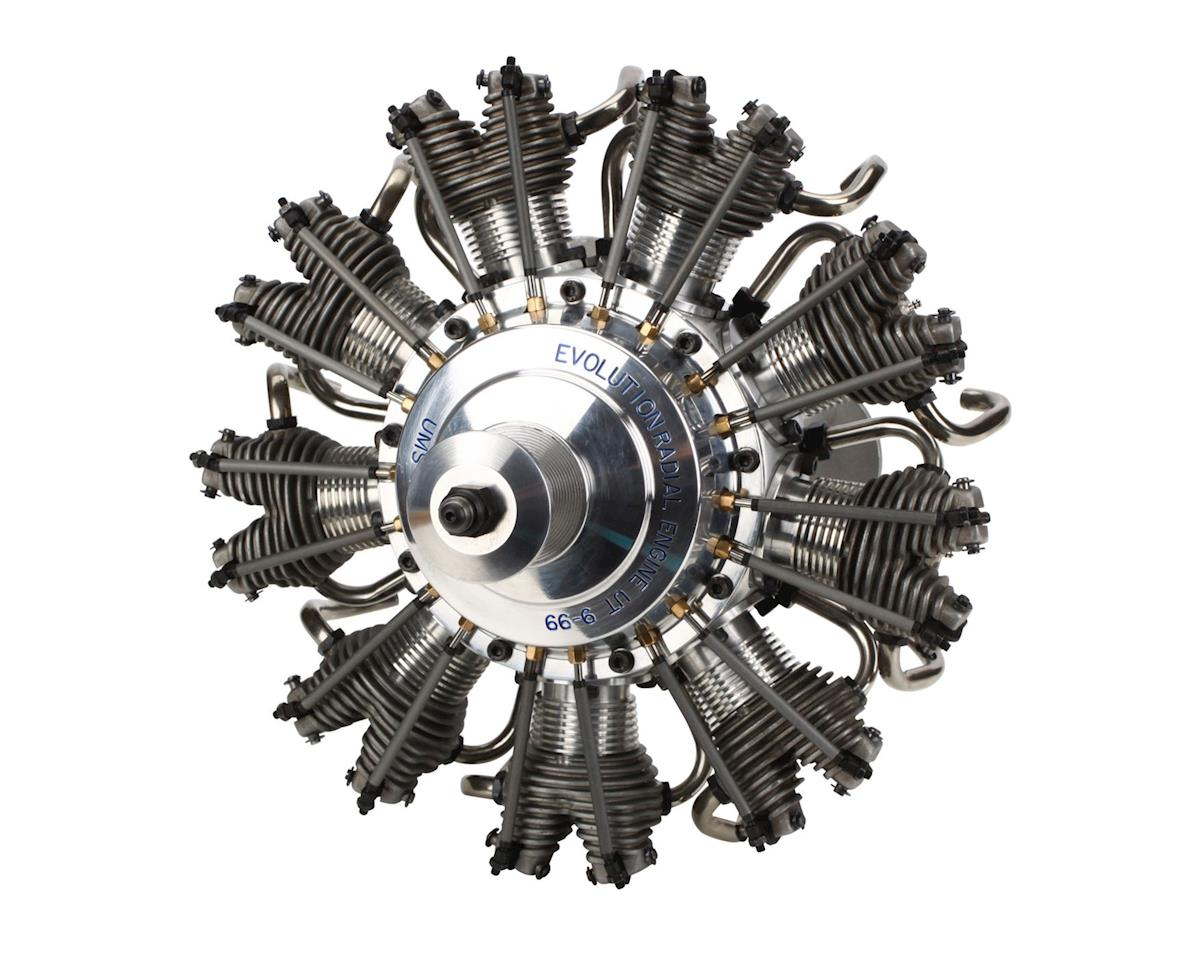 Evolution 9 Cyl 99cc 4 Stroke Glow Radial Engine