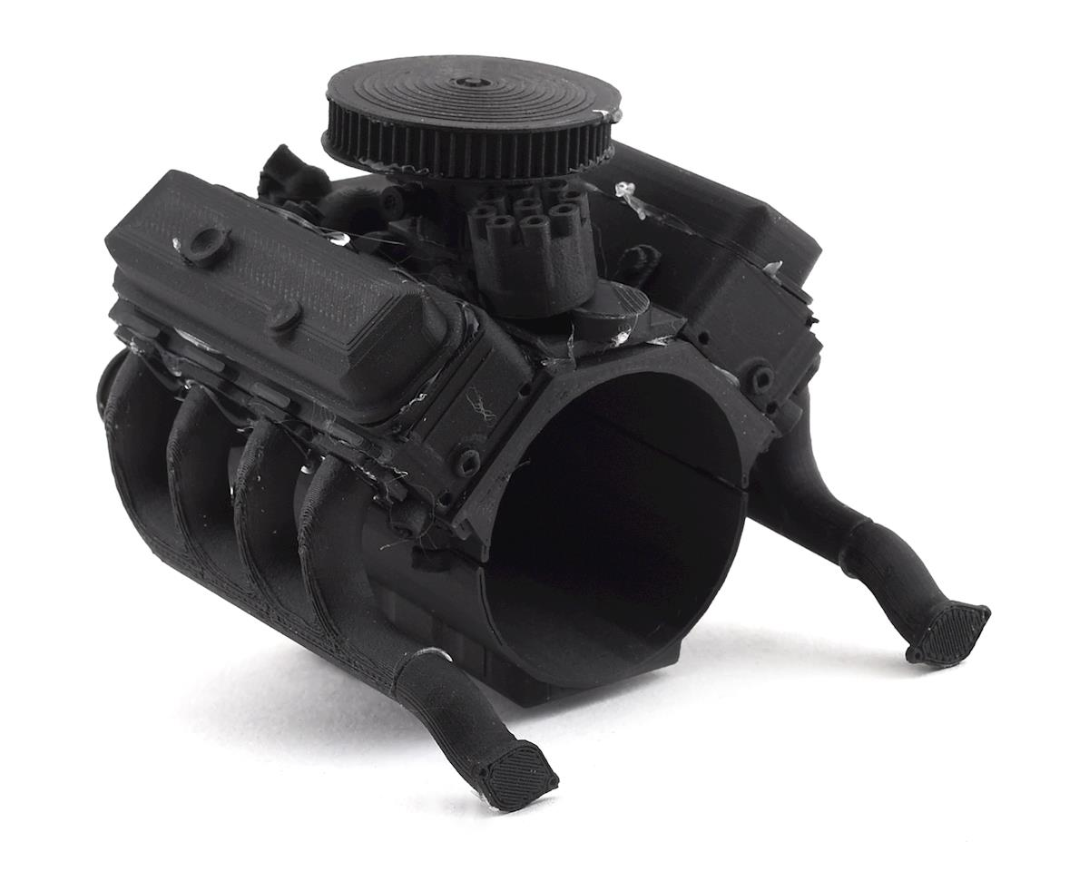 Exclusive RC Scale 454 Engine Kit (Fits 540 Motor) (Carbon Nylon)