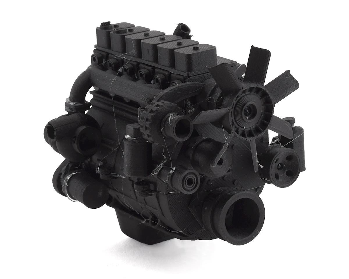 Exclusive RC Scale 6BT Turbo Diesel Engine Kit (Fits 540 Motor) (Carbon Nylon)