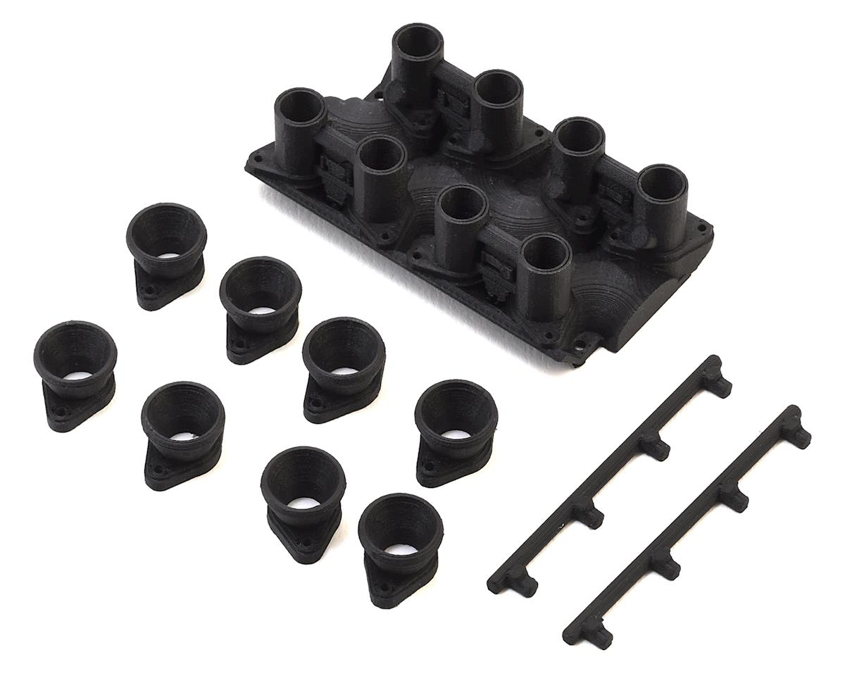 Exclusive RC RC4WD V8 8 Stack Intake Manifold (Carbon Nylon) (Fits RC4WD Heads)