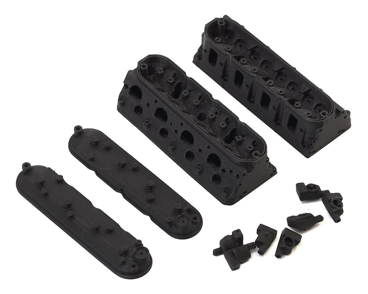 Exclusive RC RC4WD V8 LS Heads w/Valve Covers & Coils (Carbon Nylon)