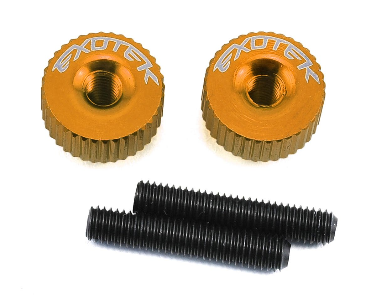 Exotek Racing M3 Twist Nut (Orange) (Serpent Spyder SRX-2 RM)