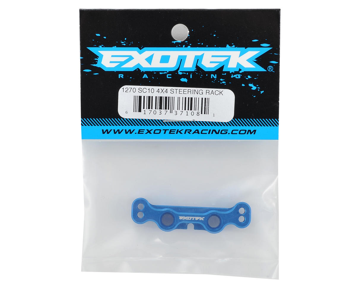 Exotek Racing SC10 4X4 Aluminum Steering Rack (Blue)