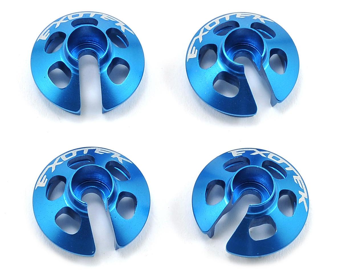 Exotek SC10 4X4 Aluminum Spring Perch Set (Blue) (4)