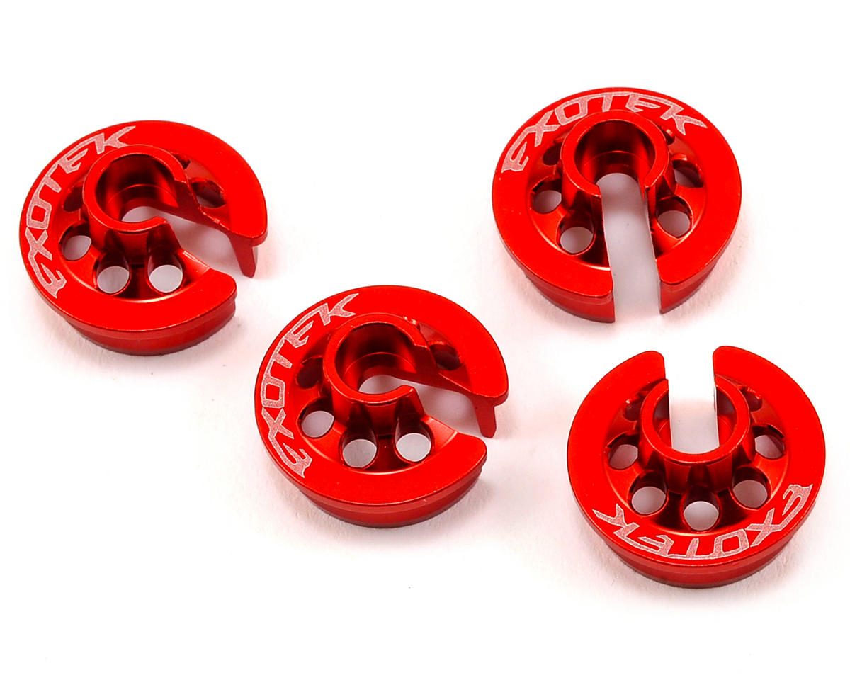 Exotek Racing RB6 Aluminum Spring Perch (4) (Red)