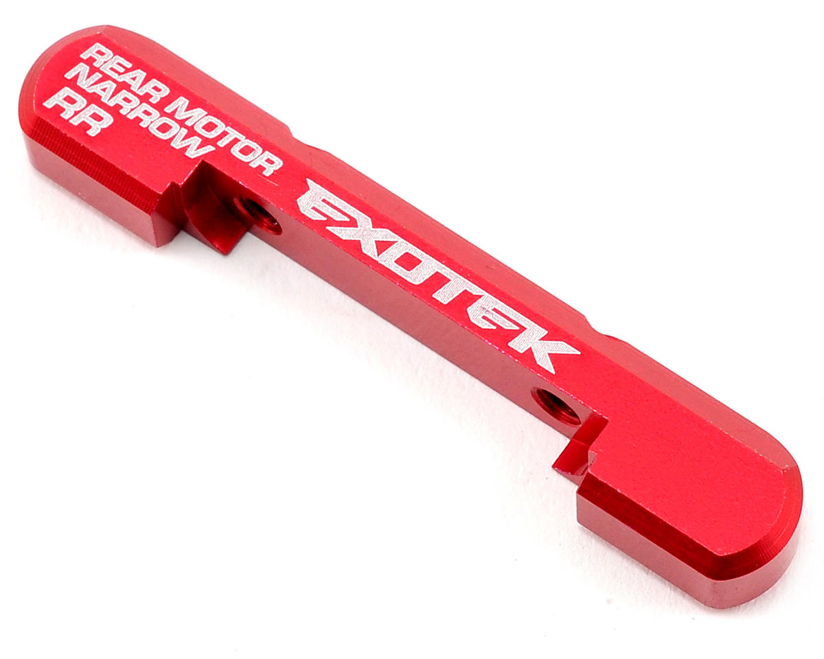 Exotek Racing RB6 Aluminum Rear Suspension Holder (Rear Motor) (Red)