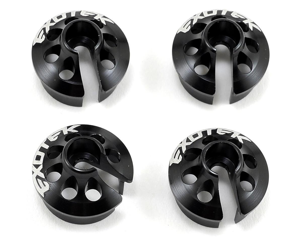 Exotek Racing XB4 Aluminum Spring Perch (Black) (4)