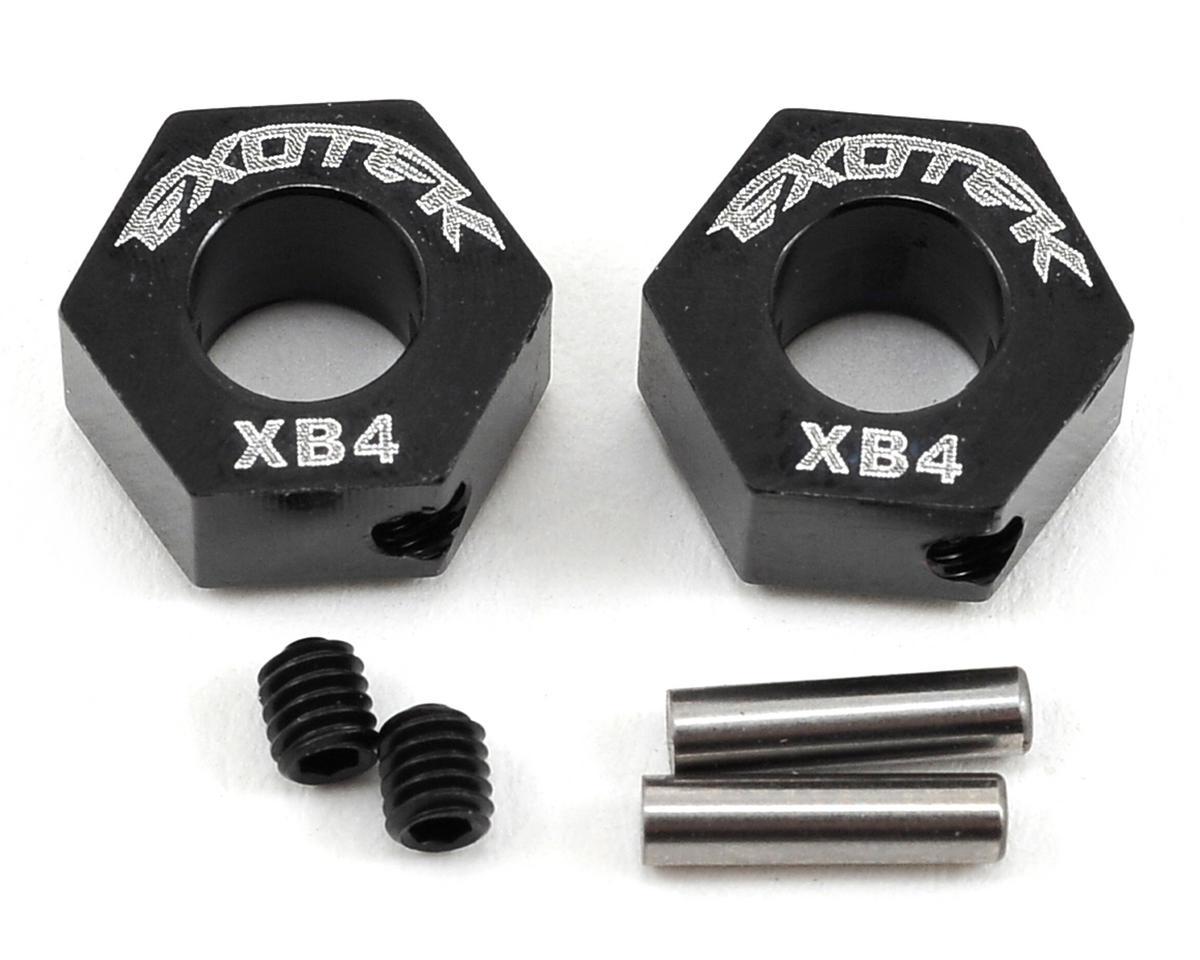 Exotek Racing XB4 9.5mm Aluminum Front Wheel Hex (Black) (2)