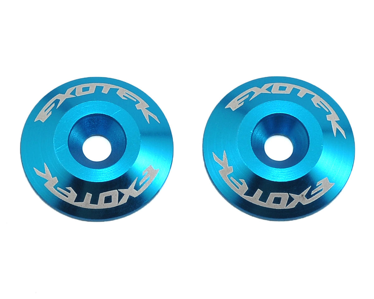 Exotek Racing Aluminum Wing Buttons (2) (Light Blue)