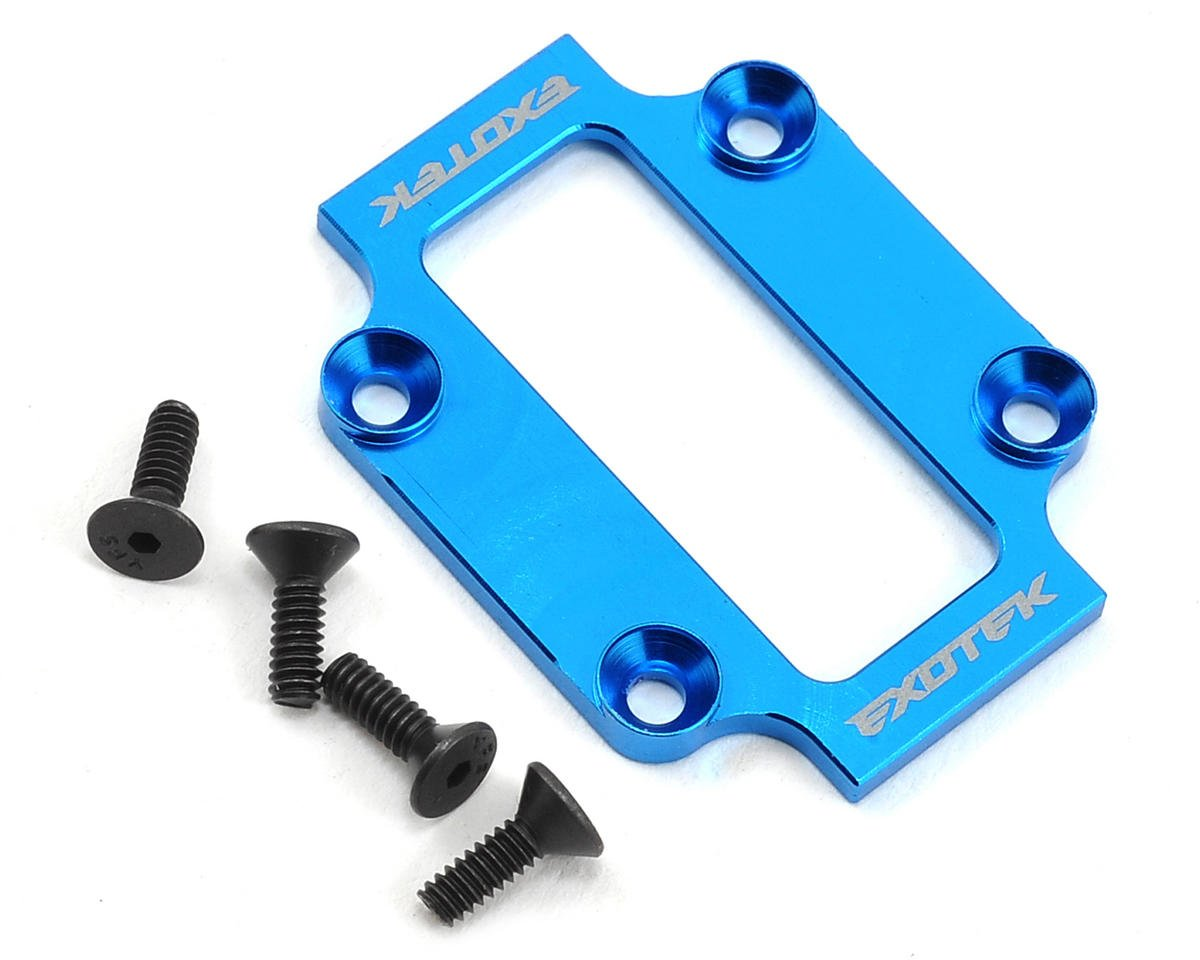 Exotek Racing B44.3 Aluminum Low Profile Spur Cap (Blue)